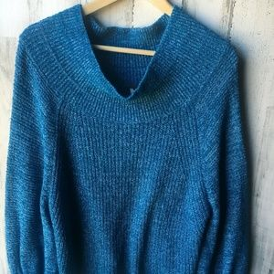 Free People Edessa Off-Shoulder Chunky Sweater